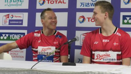 Kepala Pelatih Timnas Bulutangkis Denmark, Kenneth Jonassen mengaku sangat khawatir mengenai ketidakpastian dari kompetisi Denmark Open. - INDOSPORT