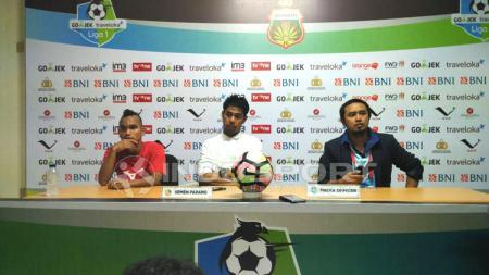 Konferensi Pers Bhayangkara FC vs Semen Padang. - INDOSPORT