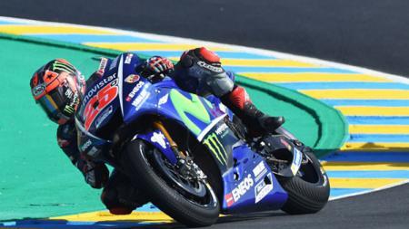 Maverick Vinales saat menjalani sesi kualifikasi MotoGP Prancis. - INDOSPORT