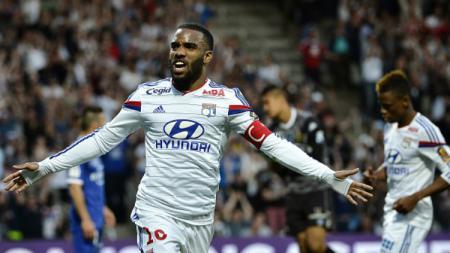 Bintang Olympique Lyon, Alexandre Lacazette. - INDOSPORT