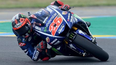 Maverick Vinales berhasil keluar sebagai juara MotoGP Prancis 2017. - INDOSPORT