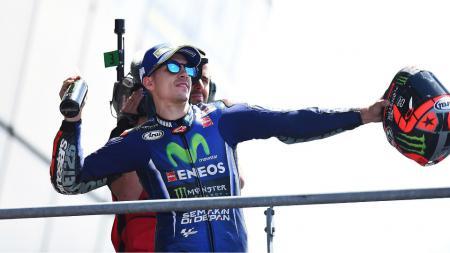 Maverick Vinales finish pertama di GP Prancis. - INDOSPORT