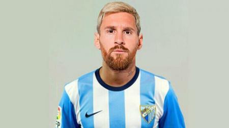 Lionel Messi dengan mengenakan seragam Malaga - INDOSPORT