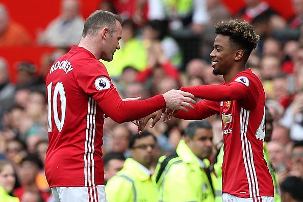 Angel Gomes masuk menggantikan Wayne Rooney di menit 88. Copyright: Getty Images