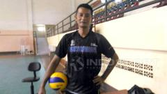 Indosport - Pelatih voli Timnas putra Indonesia, Samsul Jais.