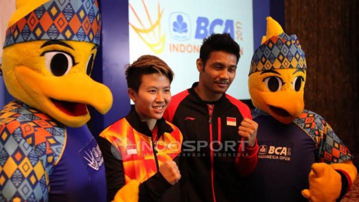 Senyum Butet Warnai Jumpa Pers Indonesia Open 2017