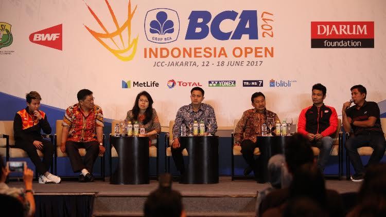 Jumpa Pers Jelang Indonesia Open 2017 Copyright: Herry Ibrahim/Indosport