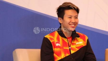 Liliyana Natsir dalam jumpa pers jelang Indonesia Open 2017. - INDOSPORT