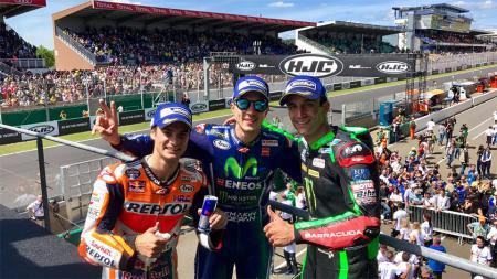 Para peraih podium dalam balapan MotoGP Prancis 2017. - INDOSPORT