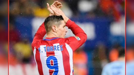 Striker Atletico Madrid, Fernando Torres. - INDOSPORT