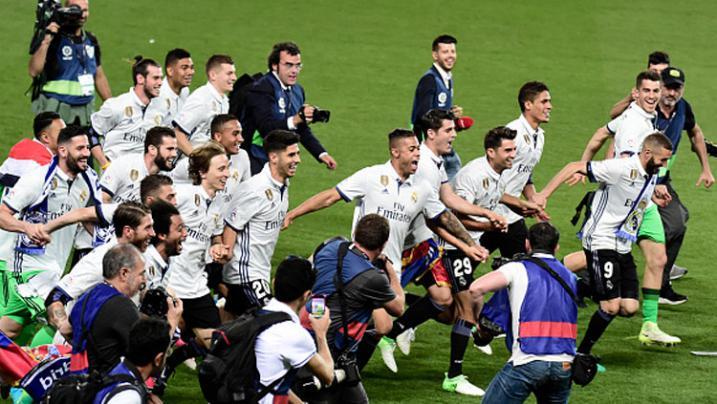 Kemeriahan Pesta Juara La Liga Real Madrid di Cibeles