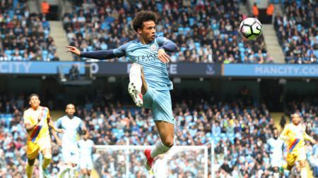 Bintang Manchester City, Leroy Sane. - INDOSPORT