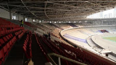 GBK Jelang Asian Games 2018. - INDOSPORT