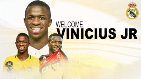 Vinicius Junior ke Real Madrid. - INDOSPORT