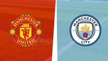 Logo Manchester City vs Manchester United. - INDOSPORT