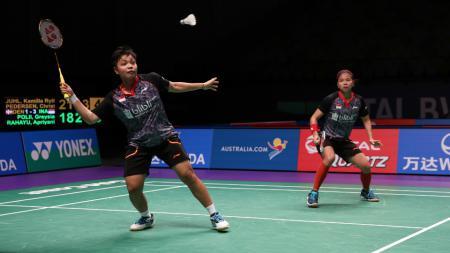 Greysia Polii/Apriani Rahayu di ajang Piala Sudirman 2017. - INDOSPORT