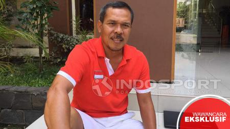 Asisten pelatih Persija Jakarta, Mustaqim. - INDOSPORT