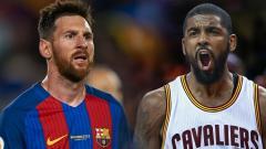 Indosport - Kyrie Irving dan Lionel Messi.