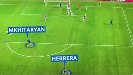 Skema posisi Herrera dan Pogba. - INDOSPORT