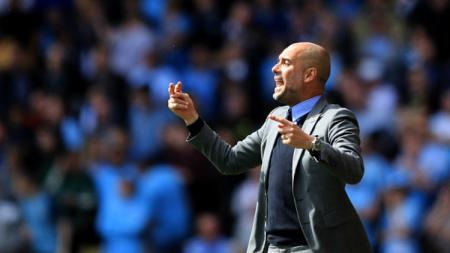 Pelatih Manchester City, Pep Guardiola. - INDOSPORT