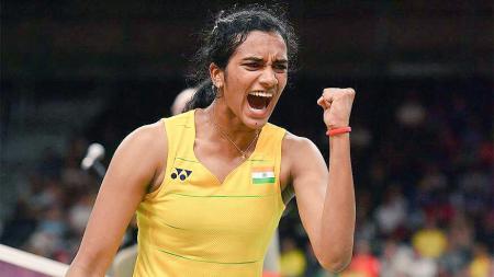 Pebulutangkis tunggal putri India, PV Sindhu mengaku kalau dirinya bakal lebih sabar lagi di tahun 2020 setelah mengalami keanjlokan performa di tahun 2019 lalu. - INDOSPORT