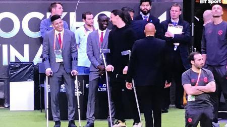 Eric Bailly dan Zlatan Ibrahimovic - INDOSPORT