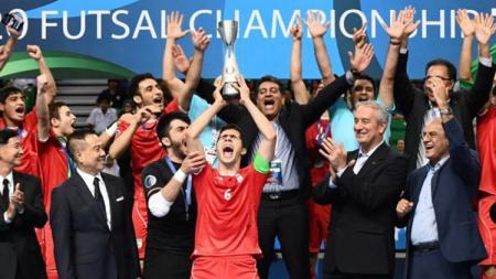 Timnas Futsal Iran U-20 juarai Piala AFC Futsal U-20 tahun 2017. - INDOSPORT
