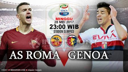 Prediksi AS Roma vs Genoa. - INDOSPORT