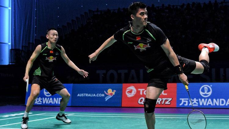 Fu Haifeng dan Zhang Nan. Copyright: Twitter@BadmintonNow