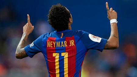 Selebrasi Neymar. - INDOSPORT