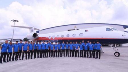 Johor Darul Takzim kini memiliki jet pribadi untuk moda transportasi para penggawanya. - INDOSPORT