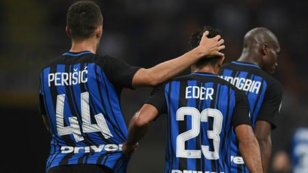 Ivan Perisic dan Eder menjadi bintang tatkala Inter Milan menggilas Udinese 5-2. - INDOSPORT