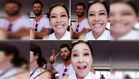 Maia Estianty dan Chris Hemsworth.