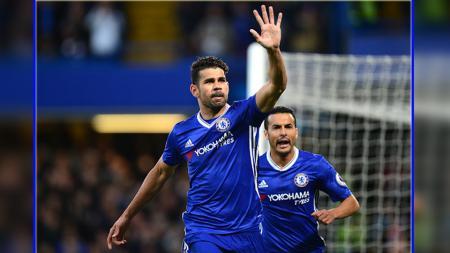 Diego Costa, striker Chelsea. - INDOSPORT