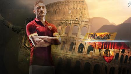 Francesco Totti, legenda AS Roma yang terpinggirkan oleh para petinggi klub. - INDOSPORT