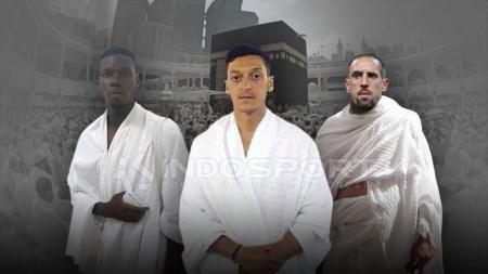 Paul Pogba, Mesut Ozil dan Franck Ribery, tiga pesepak bola Muslim yang enggan minum minuman beralkohol. - INDOSPORT