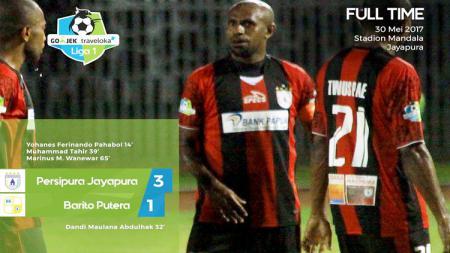 Persipura 3-1 Barito Putera. - INDOSPORT
