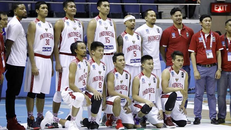 Skuat tim basket putra Indonesia. Copyright: fiba.com