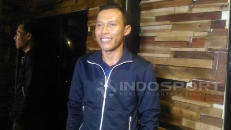 Eks bek Persib Bandung, Jajang Sukmara yang kini bergabung dengan klub Liga 2 Dewa United. - INDOSPORT