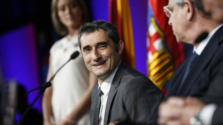 Ernesto Valverde Copyright: Twitter/FCBarcelona