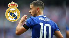 Indosport - Pemain megabintang Chelsea, Eden Hazard ingin dijadikan pemain termahal di dunia oleh Real Madrid.