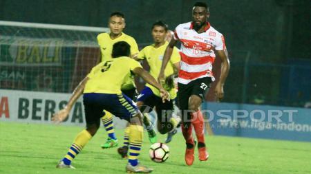 Boubacar Sanogo, menandai debutnya sebagai starter dengan gol pertama MU. - INDOSPORT