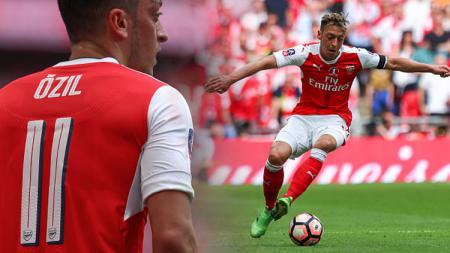 Gelandang Arsenal, Mesut Ozil. - INDOSPORT