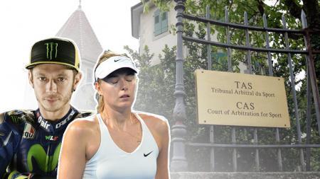 Valentino Rossi dan Maria Sharapova. - INDOSPORT