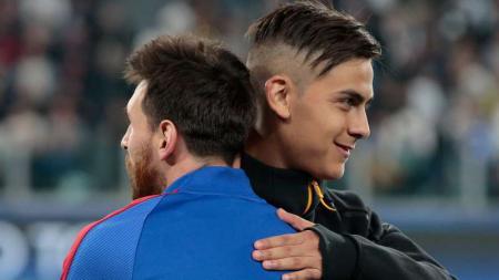 Messi dan Dybala. - INDOSPORT