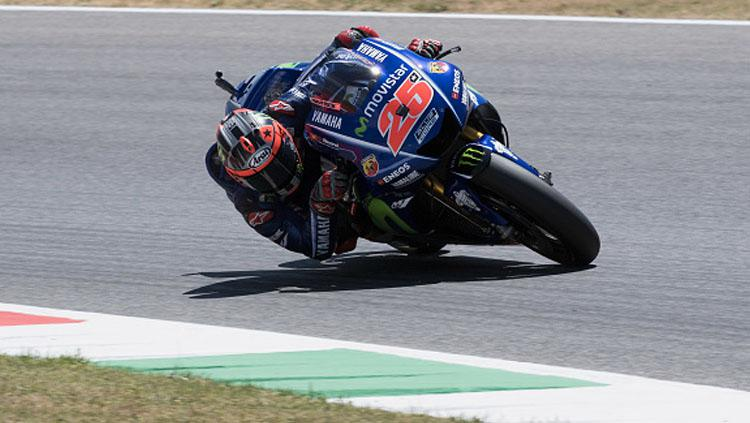 Maverick Vinales dalam lintasan balap. Copyright: Mirco Lazzari gp/Getty Images
