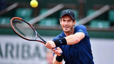 Andy Murray saat menghadapi Juan Martin del Potro di Prancis Terbuka 2017. - INDOSPORT