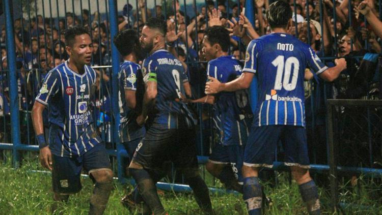 Persiba menang dramatis atas Borneo FC. Copyright: persibabalikpapan.com