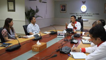 Pertemuan Kemenpora dengan PBSI. - INDOSPORT