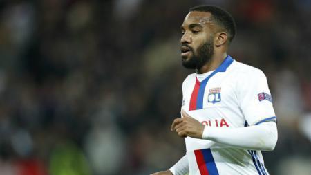 Striker Olympique Lyon, Alexandre Lacazette. - INDOSPORT